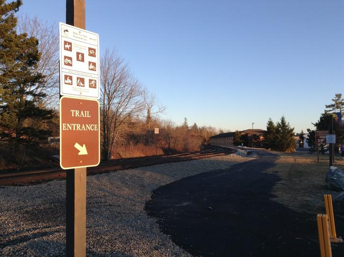 Trail extension to High Street, Ellsworth (Credit: Maine Trail Finder)