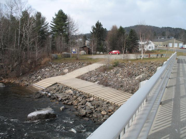 Bragg Bay concrete launch ramp (Credit: Androscoggin River Watershed Council)