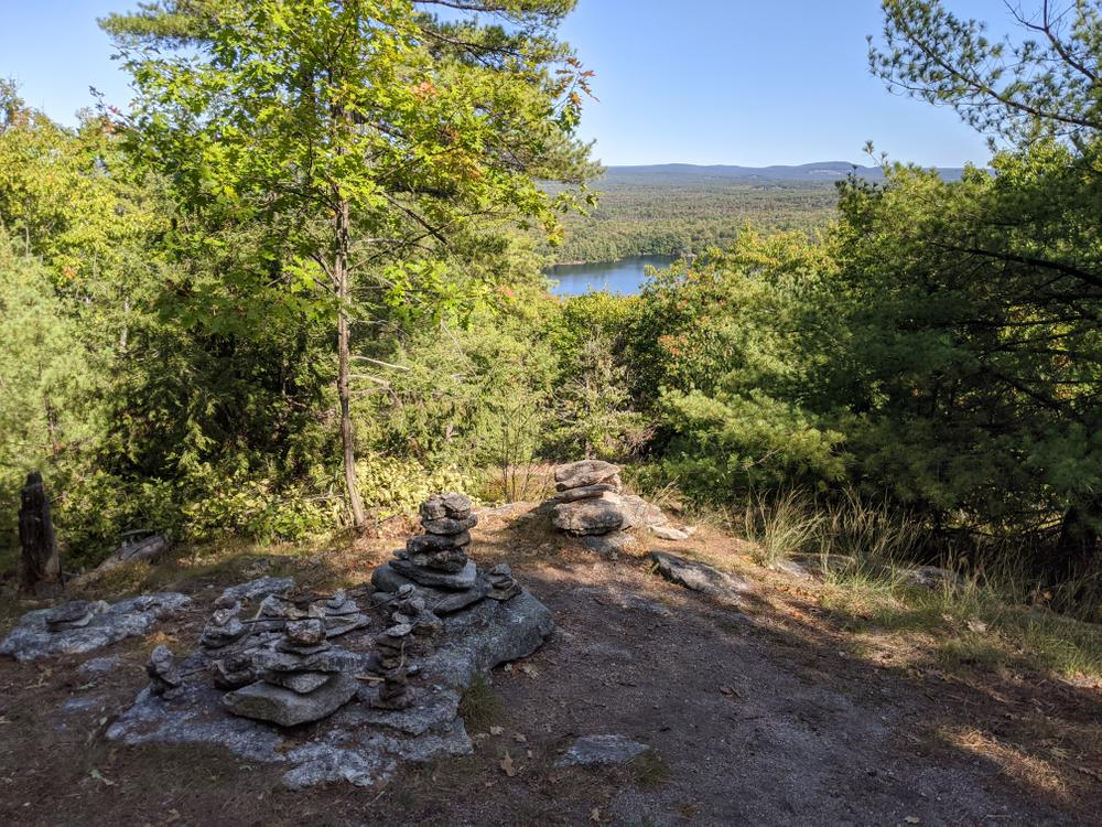 The view at the Eastern tip of Foster Pond Lookout, 9/21/20 (Credit: Mike Hanson)