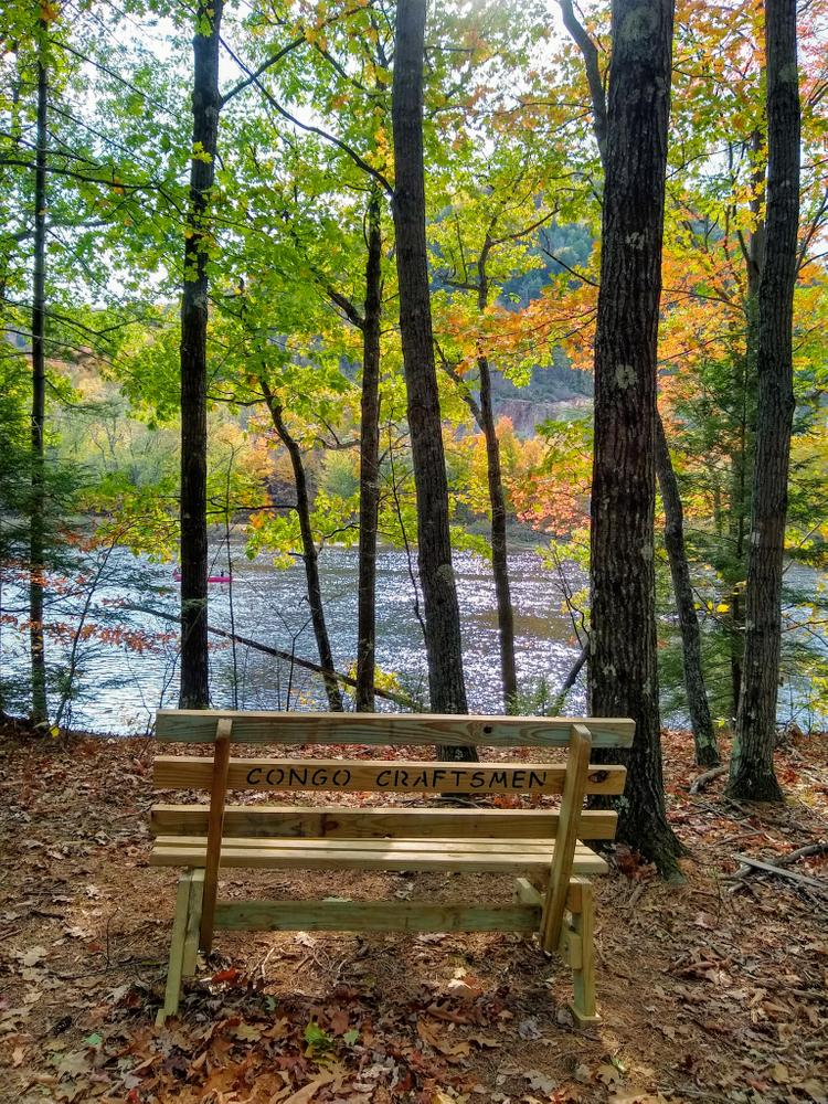 Bench by the Androscoggin (Credit: NikkiV)
