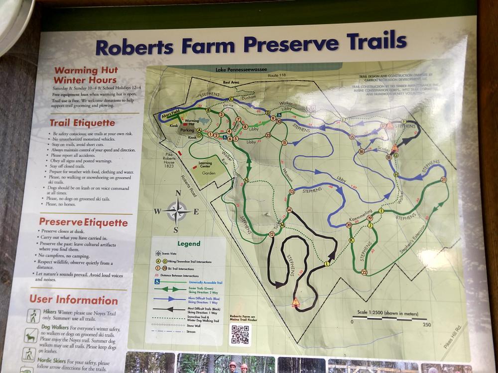 Trail Head Map (Credit: J. Wilcox)