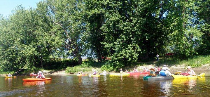 Upstream of Bethel Outdoor Adventures launch site (Credit: Androscoggin River Watershed Council)