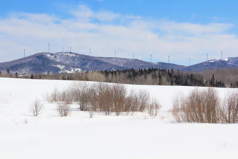 View of Mars Hill Mountain in winter