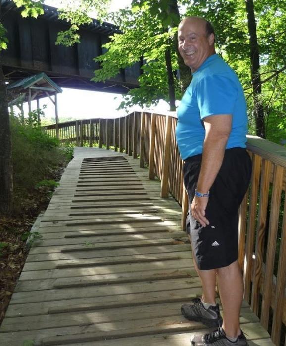 Boardwalk ramp by bridge (Credit: Healthy Oxford Hills)