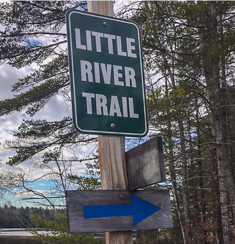 Little River Trail Signage (Credit: Belfast Bay Watershed Coalition)
