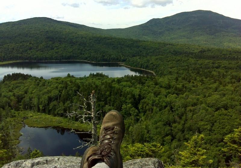View of Big Moose Pond from Loop Trail (Credit: Maine Bureau of Parks and Lands)