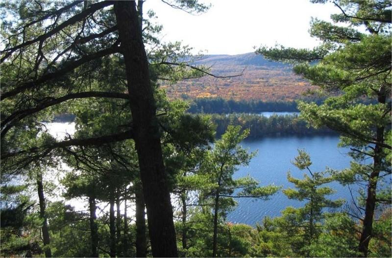 Long Pond as seen from The Mountain (Credit: Belgrade Regional Conservation Alliance)