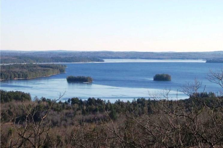 View of Great Pond from Mount Phillip (Credit: Belgrade Regional Conservation Alliance)