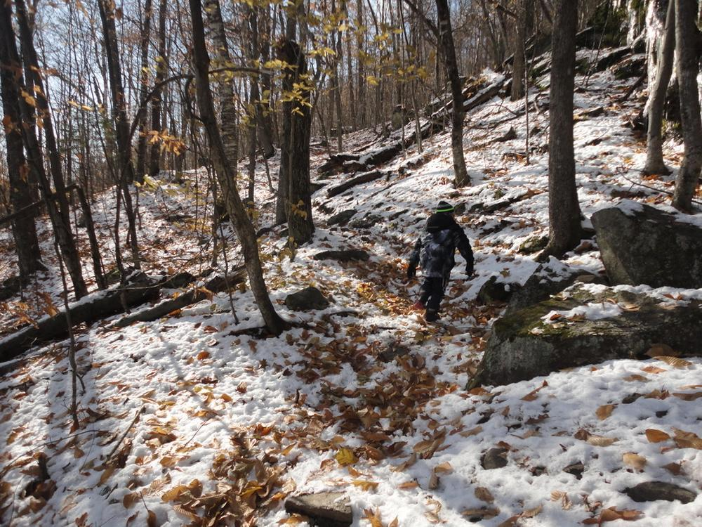 Uphill hike to the North Ledges (Credit: Remington34)