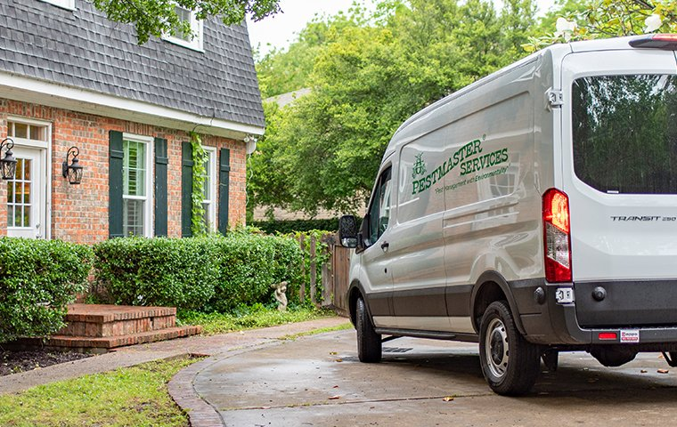 a pestmaster services van in a driveway
