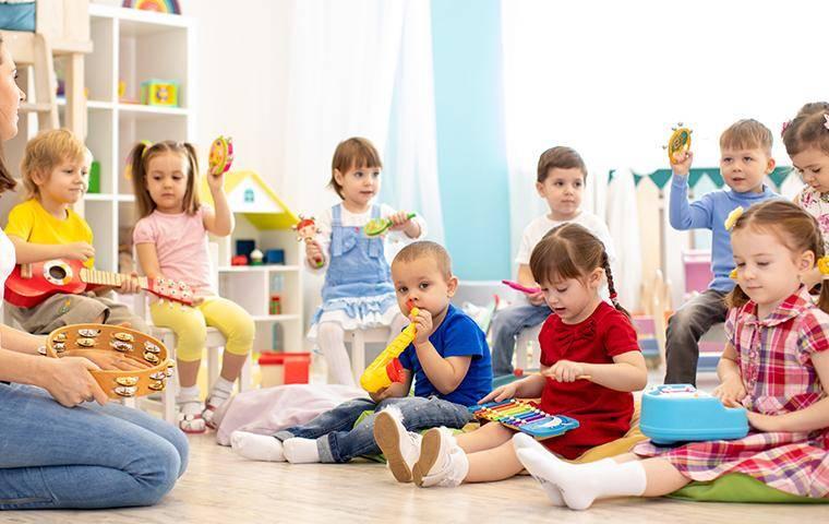 inside of a daycare