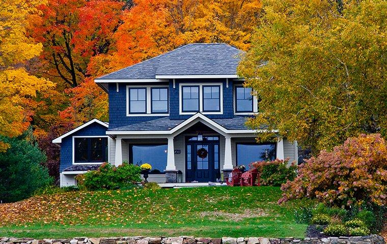 street view of a home in fulton new york in the fall