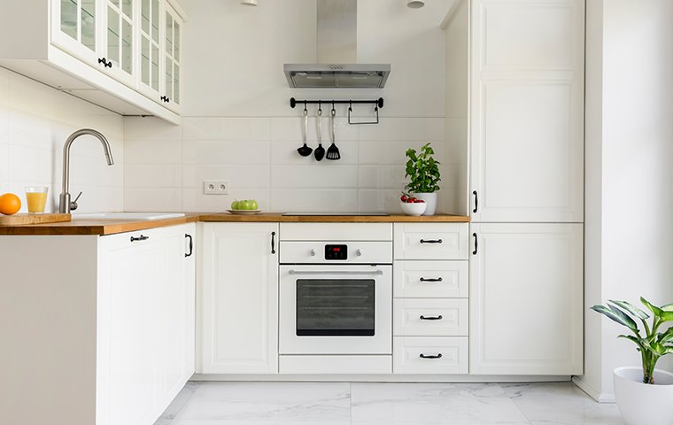 a white kitchen in home