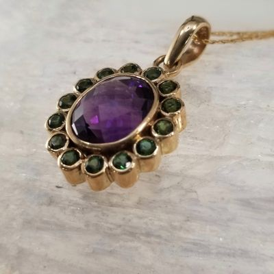 Amethyst and Brazilian Green Tourmaline