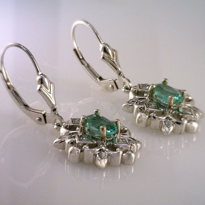 Blue Maine Tourmaline Earrings
