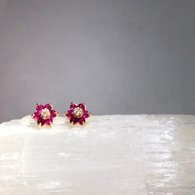 Ruby and Diamond Flowers