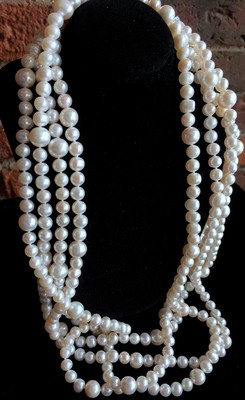 Extra Long Vintage Inspired Pearl Necklace