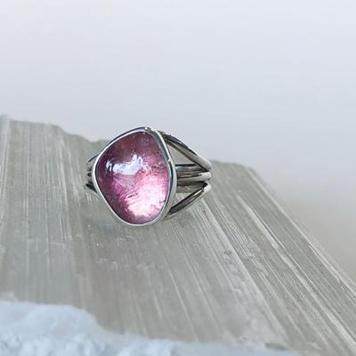 Pink Tourmaline Ring in Silver