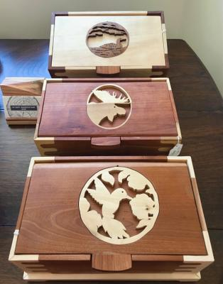 Locally Handcrafted Wood Boxes