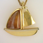 Pink Maine Tourmaline Sailboat Pendant