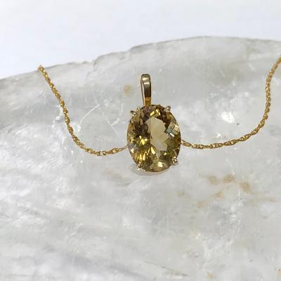 Maine Gold Citrine Pendant