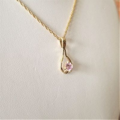 Light Pink Maine Tourmaline Pendant