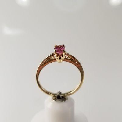 Pink Oval Maine Tourmaline Ring