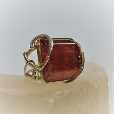 Stunning Pink Maine Tourmaline Ring