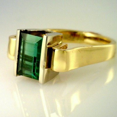 Stunning Blue Green Maine Tourmaline Ring