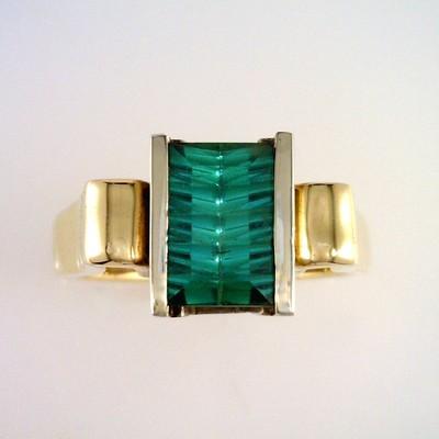 Stunning Blue Green Maine Tourmaline Ring