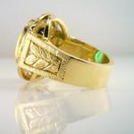 Fine Green Tourmaline and Diamond 14 KY Ring