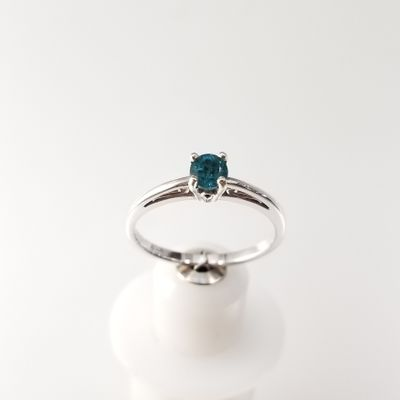 Dainty Teal Maine Tourmaline Ring