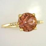 Rose Pink Maine Tourmaline and Diamond Ring