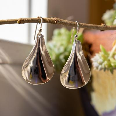 Sterling silver Scoop Earrings