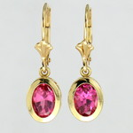 Pink Maine Tourmaline Earrings