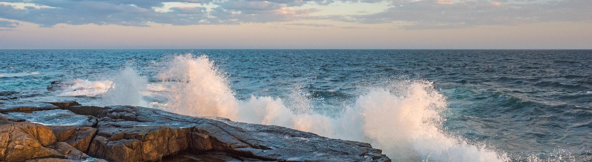 Ocean surf on rocks