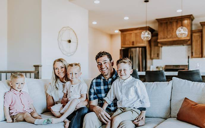 a family on the couch in idaho falls