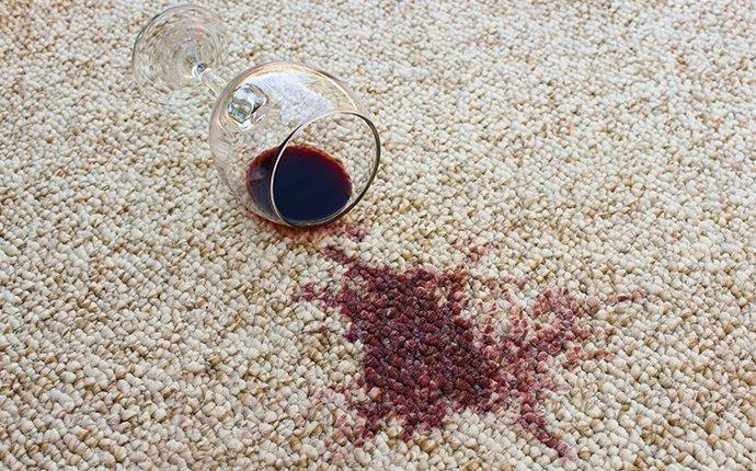 a wine stain on a nice carpet