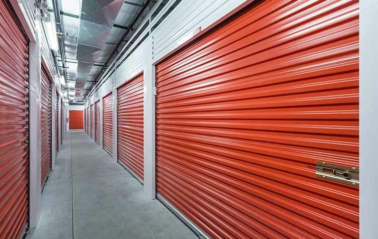 interior of a storage facility serviced by falkin pest control in denver colorado