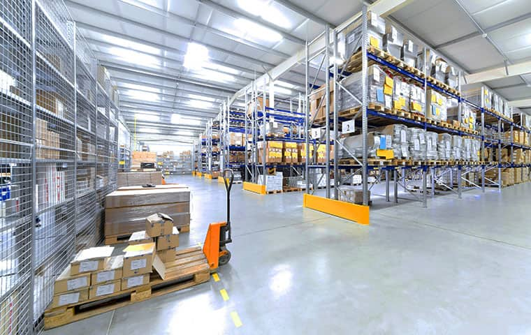 interior view of a commercial warehouse serviced by all clear pest control in chandler arizona