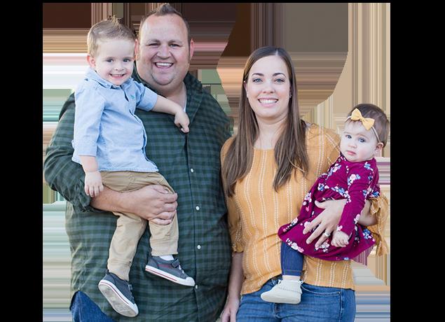 a happy family of five in queen creek arizona