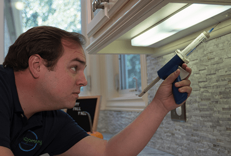 tech pest proofing kitchen in tulsa