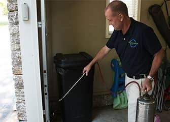 technician treating oologah home