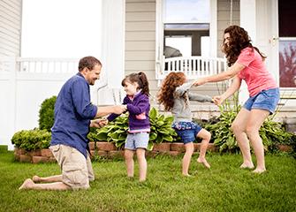 family enjoying their mosquito free yard in Tulsa