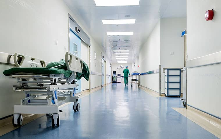 the interior of a hospital in raleigh north carolina