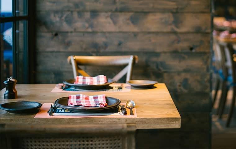 a tabletop inside of an eddington north carolina restaurant