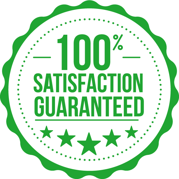 100 satisfaction guarantee seal icon