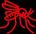 white mosquito icon