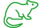 green rodent control icon