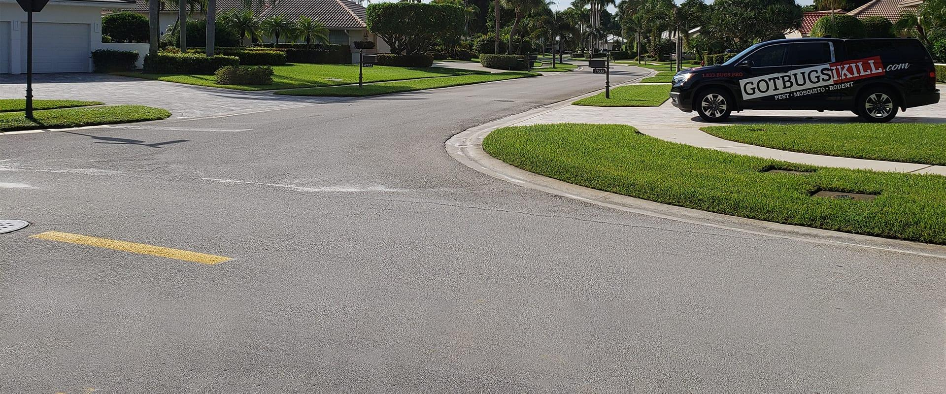 street view of a row of houses in boca raton florida